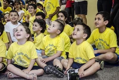Børnene var fanget af aktiviteterne i Betlehem.