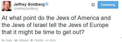 Jeffrey Goldbergs tweet.