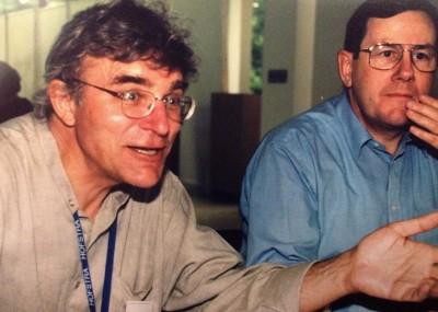 Kai Kjær-Hansen under én af mange passionerede meningsudvekslinger. Her er det under en LCJE-konference i New York i 1999.