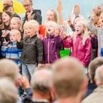 Børnene sang til flere aftenmøder.