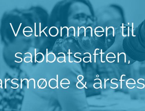 Velkommen til sabbatsaften, årsmøde og årsfest!
