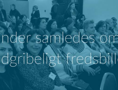 Kvinder samledes om et håndgribeligt fredsbillede